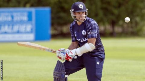Kyle Coetzer made 51 not out for Scotland