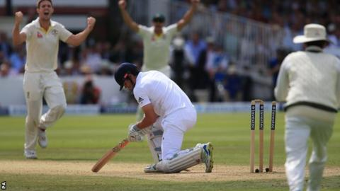 Alastair Cook is bowled