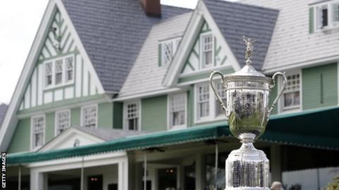 US Open trophy, the Oakmont County Club, Pennsylvania
