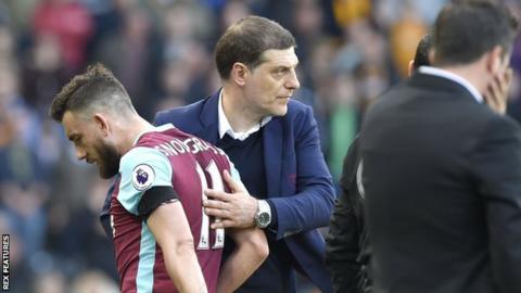 West Ham's Robert Snodgrass and Slaven Bilic