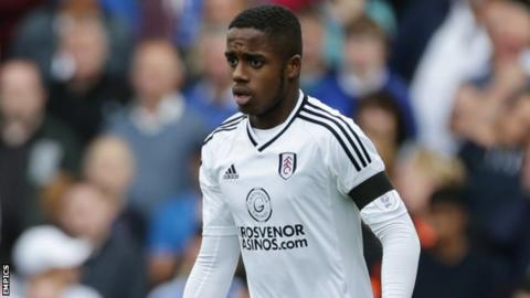 Ryan Sessegnon looks on during Fulham's game at Barnsley