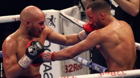 British boxer James DeGale (right)