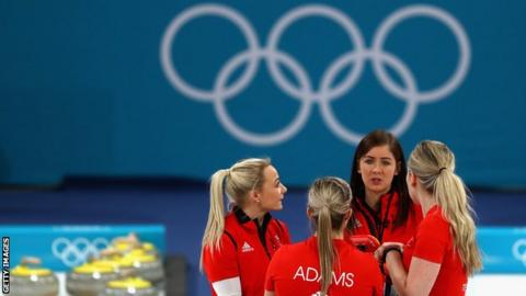 Great Britain's women's curling team at the 2018 Winter Olympics