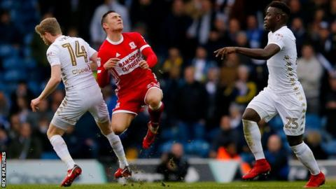 Connor Roberts' one Championship game for Middlesbrough came against Leeds United
