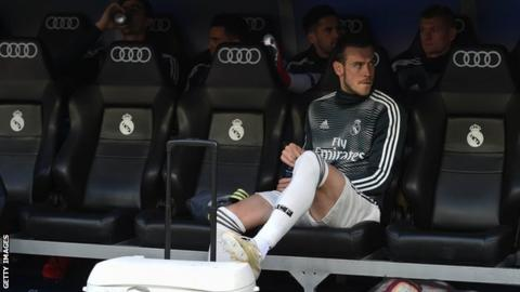 Wales and Real Madrid forward Gareth Bale sat on the bench during Real Madrid's 2-0 defeat by Real Betis in their final La Liga match this season