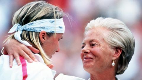 Jana Novotna and Duchess of Kent