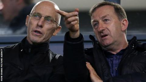Bob Bradley and Huw Jenkins