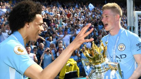 Leroy Sane and Kevin de Bruyne