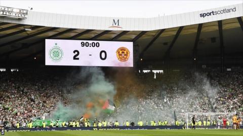 Celtic fans at Hampden
