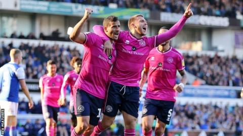 Tomer Hemed and Luke Freeman celebrate Hemed's goal against Ipswich