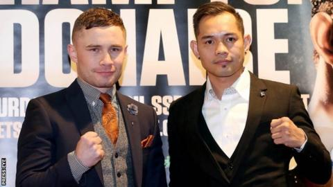 Frampton will fight Nonito Donaire at the SSE Arena in Belfast on 21 April