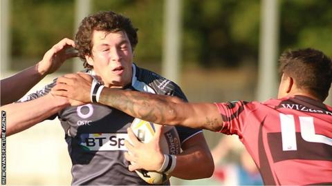 Ross Jones in action for Ospreys