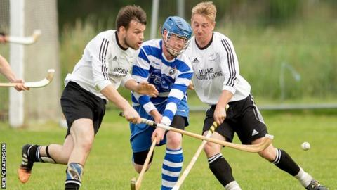 Lovat and Newtonmore players