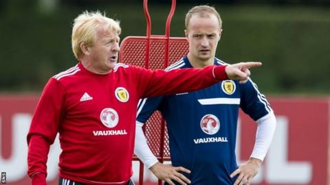 Gordon Strachan (left) and Leigh Griffiths