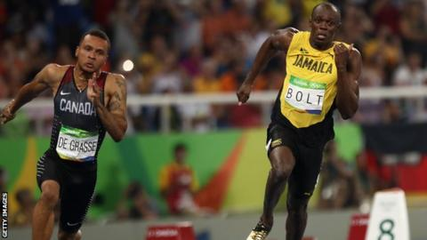 Andre de Grasse finished third behind Usain Bolt in the 100m and second in the 200m at the Rio Olympics
