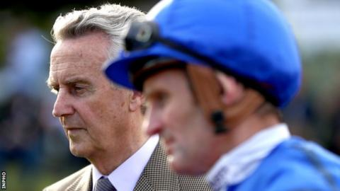Winning trainer Jim Bolger and his son-in-law winning jockey Kevin Manning