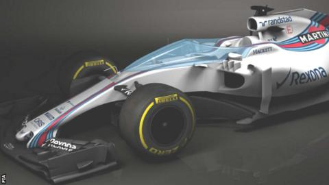 An image of what F1 cockpit protection would look like on a Williams car