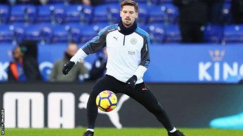 Leicester City midfielder Adrien Silva