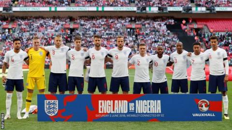 England team v Nigeria