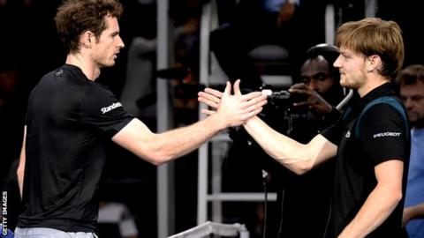 Andy Murray and David Goffin
