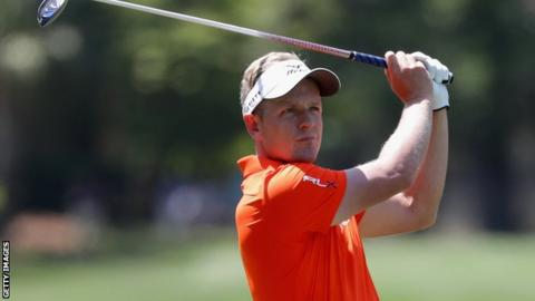 Luke Donald in round two action at Hilton Head