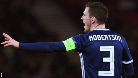 designer fashion 1c3e6 3d6d5 Scotland: Liverpool full-back Andy Robertson to miss ...