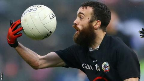 Conor Laverty will be a key man as Kilcoo look to overcome Derrygonnelly