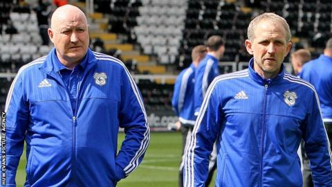 Russell Slade (left) with Paul Trollope