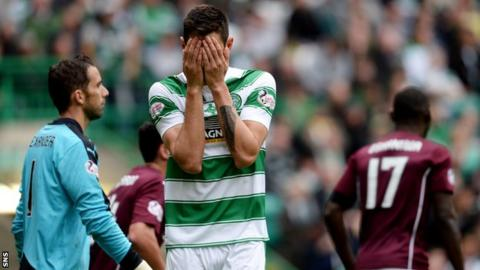 Celtic midfielder Nir Bitton shows his frustration