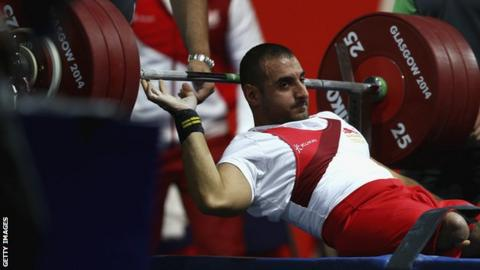 Ali Jawad at the Commonwealth Games