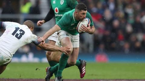 Ireland in action against England during the 2018 Six Nations