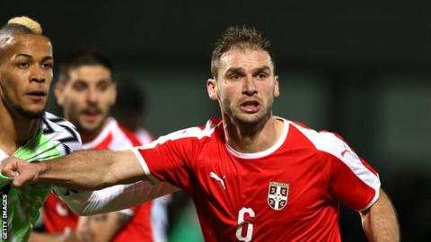 Branislav Ivanovic becomes Serbia's most capped player in Costa Rica match