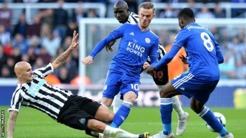 James Maddison in action against Newcastle