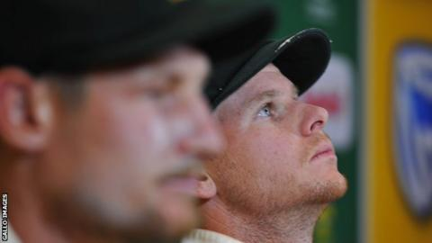 (l-r) Cameron Bancroft and Steve Smith