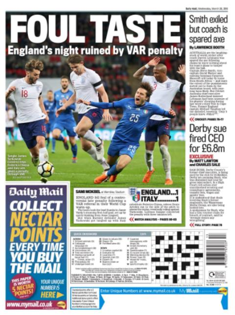 Wednesday's Mail back page