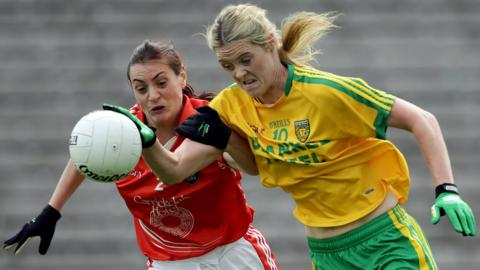 Yvonne McMonagle scored both goals as Donegal led 2-10 to 1-10 in the second half