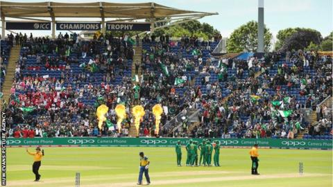 Cardiff was not sold out for the ICC Champions Trophy thriller between Sri Lanka and Pakistan