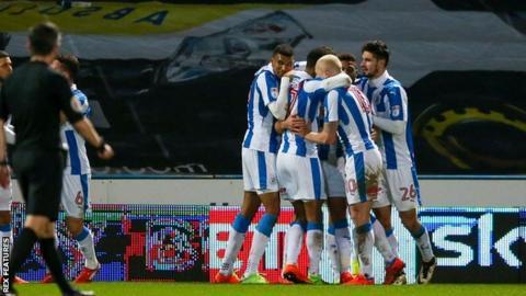Huddersfield celebrate