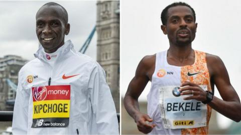 Eliud Kipchoge and Kenenisa Bekele