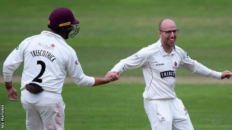 Marcus Trescothick and Jack Leach