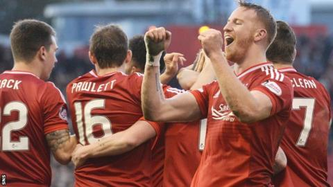 Adam Rooney was on target for the Dons
