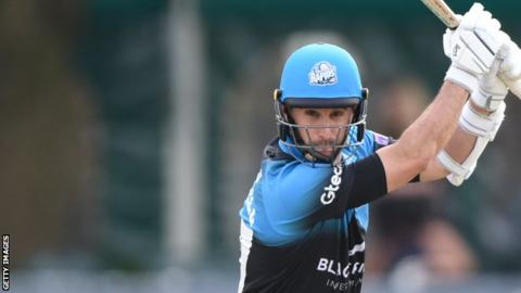 Daryl Mitchell spent 153 minutes at the crease as he hit 102 for Worcestershire against Lancashire