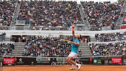 Nadal outlasts Djokovic for ninth Italian Open win