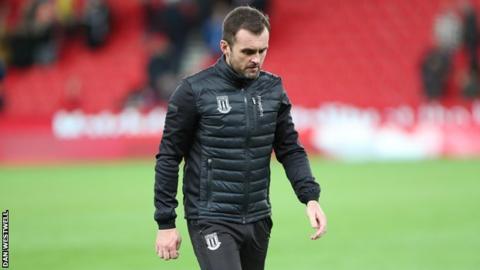 Stoke City boss Nathan Jones