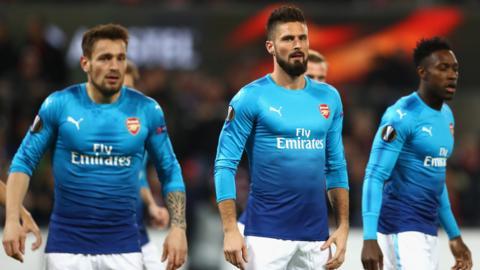 Arsenal at half-time
