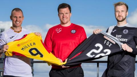 Partick Thistle's Kenny Miller, Gary Caldwell and Scott Fox