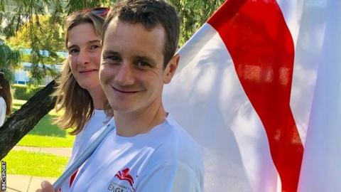 Alistair Brownlee (right) and Sarah Winckless