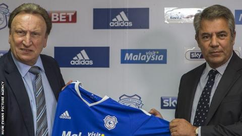 Neil Warnock and Mehmet Dalman