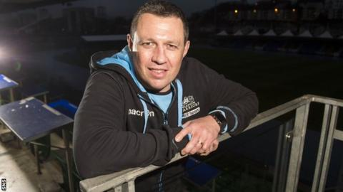 Glasgow Warriors coach Matt Taylor