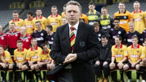 David Beattie at Firhill